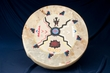 "One Sided Painted Drum 16""  -Navajo Valley  (pd61)"