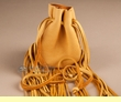 "Shoshone Indian Medicine Bag 4.5"" -Gold Buckskin  (306)"
