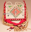 "Native American Red Parfleche Bag  8x6"" -Lakota   (b91)"