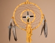 "Native American Dreamcatcher Medicine Wheel 6"" -Gold  (6-12)"
