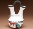 "Native American Tigua Wedding Vase - 8"" tall  (t1)"