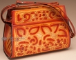Southwestern Hand Tooled Leather Purse  (68)