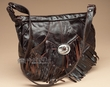 Southwestern Leather Concho Handbag -Rustic Brown  (428)