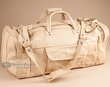 "Western Cowhide Leather Travel Bag 22"" -Cream  (58)"
