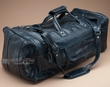 "Genuine Leather Duffle Bag 22"" -Navy Blue  (db7)"