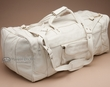 "Genuine Cowhide Duffle Travel Bag 22"" -Bone  (db8)"