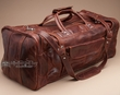 "Rustic Western Leather Travel Bag 22"" -Rust  (db11)"