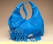Southwestern Fringed Leather Concho Purse  (425)