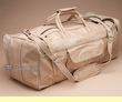 "Genuine Cowhide Leather Travel Bag 22"" -Tan  (db9)"