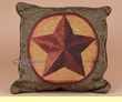 Designer Western Star Accent Pillow 17x17  (sp2)