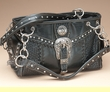 Western Designer Leather Purse -Black  (p425)