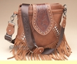 Designer Western Leather Messenger Bag -Saddle  (p423)