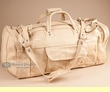 "Western Cowhide Leather Travel Bag 23"" -Cream  (58)"