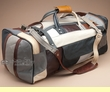 "Patchwork Leather Travel Bag 22"" -Multicolor  (b13)"