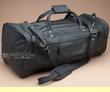 "Rich Genuine Leather Duffle Travel Bag 20"" Black  (b14)"