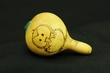 "Mini Native American Cherokee Gourd Rattle 3""   (162)"