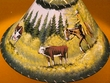 "16"" Painted Leather Lamp Shade -Cowboy  (PL20)"