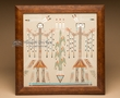 "Native American Navajo Sand Painting 14"" (sp20)"
