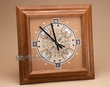 Native American Navajo Sand Painting - Oak Clock  (2)