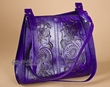 Southwestern Tooled Leather Purse -Purple  (p23)