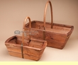 Southwestern Style Wooden Basket Set of 2   (a59)