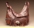 Southwestern Leather Cowhide Purse -Copper Brown  (40)
