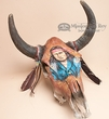 Deluxe Painted Steer Skull  -Scout  (s62)