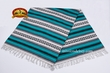 Southwest Mexican Blanket - Turquoise 5'x7'  (mb1a)
