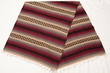 Old Style Mexican Blanket 56x74 -Burgundy & Grey  (mb4a)