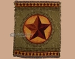 "Woven Western Throw Blanket 50""x60"" -Western Star  (st19)"