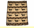 Western Jacquard Throw Blanket 50x60 -Horses  (3)