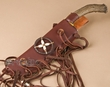 "Native American Antler Knife & Sheath 15"" -Left Handed  (k40)"