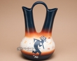 "Native American Navajo Wedding Vase 12"" -Kokopelli  (v202)"