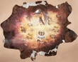 """Painted Western Hide Wall Hanging 88""""x71"""" -Eagle  (ph37)"""