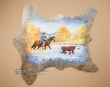 Painted Cow Hide for Western Decor - Stray Steer