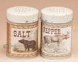Rustic Lodge Style Salt & Pepper Shakers -Bear & Moose