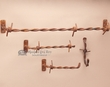 4 Pc. Rustic Hand Forged Bath Towel Rack Set -Combo