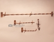 4 Pc. Western Hand Forged Bath Towel Rack Set -Double