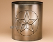 "Southwest Tin Art Waste Basket 10"" -Star  (wb2)"