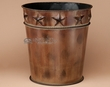 "Designer Western Bathroom Waste Basket 12"" -Star  (wb3)"