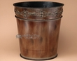 "Rustic Bathroom Designer Waste basket 12"" -Barb Wire  (wb4)"