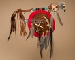 "Tigua Indian Spirit Hawk Medicine Staff & Shield 20"" (10)"
