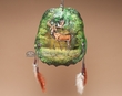 "Painted Turtle Shell Mandella 10""x9"" -Deer   (24)"
