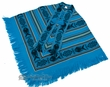 Otavalo Indian Woven Pancho -Turquoise Blue  (p3)