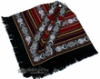 Otavalo Indian Woven Pancho -Burgundy  (6)