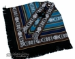 Otavalo Indian Woven Pancho -Light & Dark Blue  (p8)