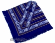 Otavalo Indian Woven Pancho -Brilliant Blue  (p11)