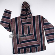 Soft Woven Baja Shirt Hoodie - Blue & Brown - Large