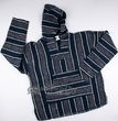 Soft Woven Baja Shirt Hoodie - Blue & Grey - Extra Large