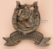 Rustic Western Iron Horse Shoe Door Knocker  (d3)